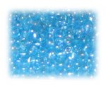 6/0 Soft Turquoise Rainbow Luster Glass Seed Beads, 1 oz. bag