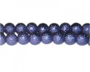 10mm Purple Rustic Glass Pearl Bead, approx. 23 beads