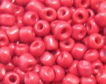 6/0 Red Opaque Glass Seed Bead, 1oz. bag