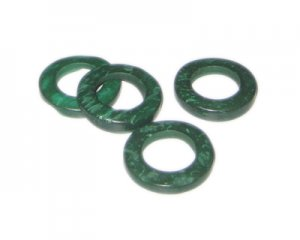 20mm Dark Green Dyed Coconut Circle, 15 circles