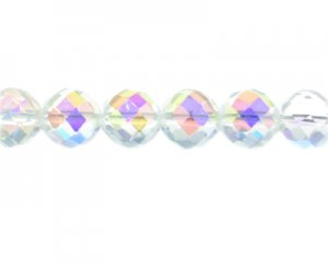 14mm Crystal AB Finish Faceted Glass Bead. Limit 3!