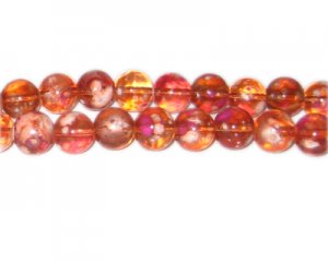10mm Orange Blossom Spray Glass Bead, approx. 21 beads