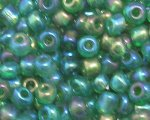 6/0 Dark Green Luster Glass Seed Bead, 1oz. bag