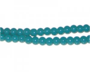 6mm Bottle Green Jade-Style Glass Bead, approx. 77 beads