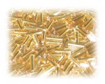 7 x 2mm Gold Bugle Bead, 1 oz. bag