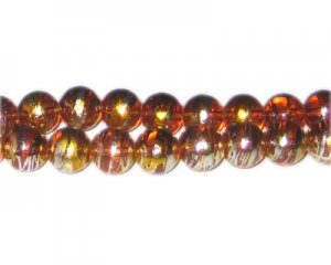 10mm Burning Bush Abstract Glass Bead, approx. 22 beads