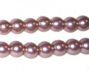 8mm Round Mink Glass Pearl Bead, approx. 56 beads