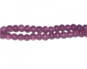 6mm Sangria Jade-Style Glass Bead, approx. 77 beads