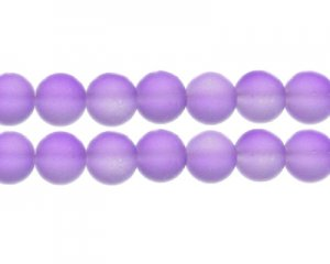 12mm Soft Purple Sea/Beach-Style Glass Bead, approx. 14 beads
