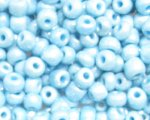 6/0 Soft Blue Ceylon Glass Seed Bead, 1oz. bag