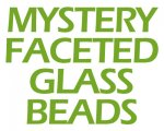 Mystery Faceted Cube Glass Beads, 2oz. bag