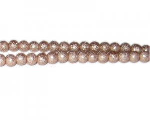 6mm Pale Gold Rustic Glass Pearl Bead, approx. 71 beads