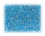 11/0 Soft Turquoise Rainbow Luster Glass Seed Beads, 1 oz. bag