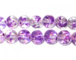 12mm Lavender Spray Glass Beads approx. 18 beads