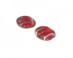 20mm Red Pattern Handmade Lampwork Glass Bead, 5 beads