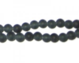 8mm Black Onyx Matte Gemstone Bead, approx. 50 beads