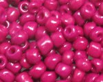 6/0 Crimson Opaque Glass Seed Bead, 1oz. bag