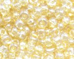 6/0 Gold Ceylon Glass Seed Bead, 1oz. bag
