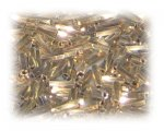 7 x 2mm Deep Gold Twisted Bugle Bead, 1 oz. bag