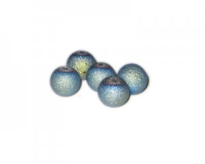 12mm Pale Blue Druzy-Style Electroplated Glass Bead, approx. 16