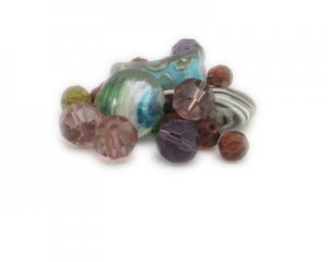 Approx. 1.5 - 2oz. Striped Bead Mix