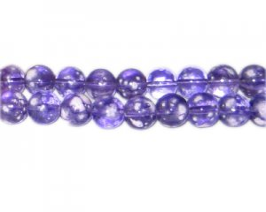 10mm Purple Blossom Spray Glass Bead, approx. 21 beads