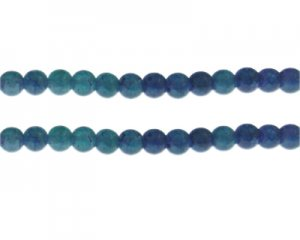 8mm Purple/Blue Duo-Style Glass Bead, approx. 35 beads