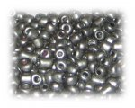 6/0 Antique Silver Metallic Matte Glass Seed Beads, 1 oz. bag