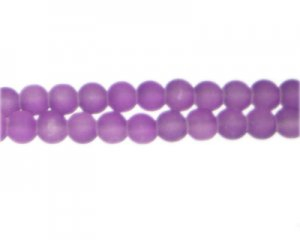 6mm Violet Sea/Beach-Style Glass Bead, approx. 71 beads