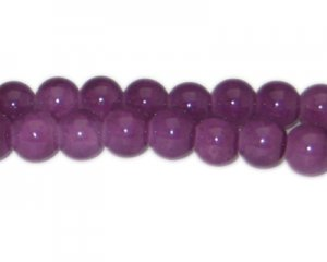 12mm Dark Amethyst-Style Glass Bead, approx. 18 beads