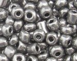 6/0 Silver Metallic Glass Seed Bead, 1oz. bag