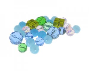 Approx. 1.5 - 2oz. Waves Glass Bead Mix