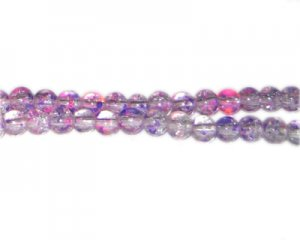 6mm Lilac Dream Crackle Season Glass Bead, approx. 72 beads