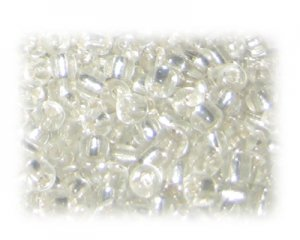 6/0 White Silver-Lined Glass Seed Beads, 1 oz. bag
