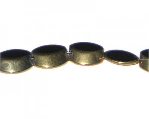 16 x 12mm Black Vintage-Style Glass Bead, approx. 5 beads