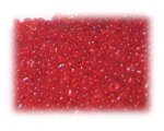11/0 Dark Red Frosted Glass Seed Beads, 1 oz. bag