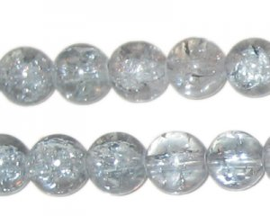 10mm Silver Crackle Bead, approx. 21 beads