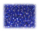 6/0 Dark Blue Silver-Lined Glass Seed Beads, 1 oz. bag