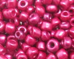 6/0 Deep Crimson Metallic Glass Seed Bead, 1oz. bag