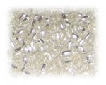 6/0 Crystal Silver-Lined Glass Seed Beads, 1 oz. bag