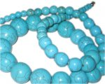 "4 - 20mm Turquoise Necklace, 23"" length. Limit 1!"
