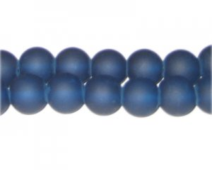 12mm Petrol Blue Sea/Beach-Style Glass Bead, approx. 14 beads