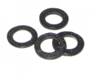 20mm Black Dyed Coconut Circle, 15 circles
