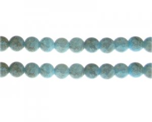 8mm Larimar Duo-Style Glass Bead, approx. 35 beads