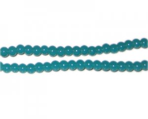 4mm Bottle Green Jade-Style Glass Bead, approx. 105 beads