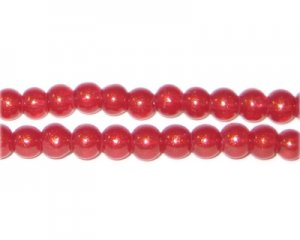 6mm Blush Pearlised Glass Bead, approx. 74 beads