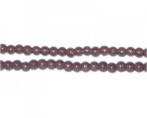 4mm Copper Pearlised Glass Bead, approx. 110 beads