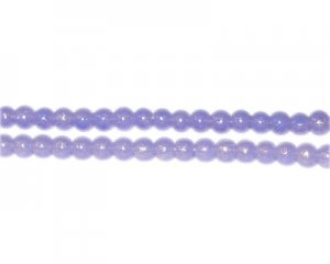 4mm Lilac Pearlised Glass Bead, approx. 110 beads