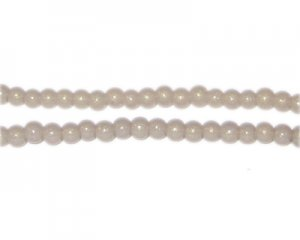 4mm Silver Pearlised Glass Bead, approx. 110 beads