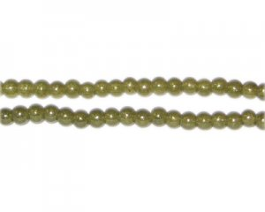4mm Olive Pearlised Glass Bead, approx. 110 beads
